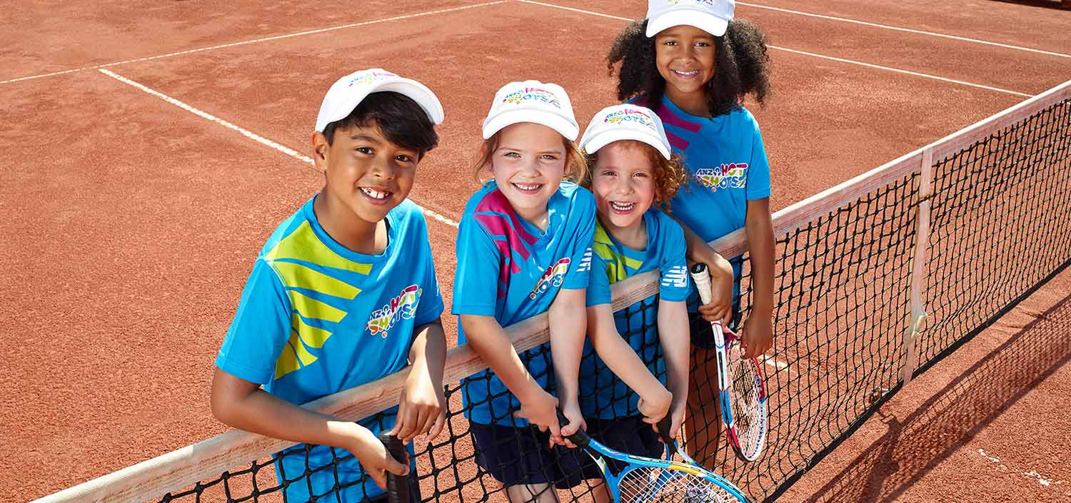 Kids at Tennis Lesson in Sydney NSW